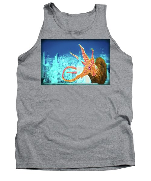 Tank Top featuring the drawing What Will You Have by John Haldane