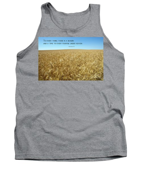 Wheat Field Harvest Season Tank Top