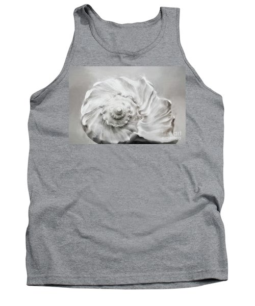 Tank Top featuring the photograph Whelk In Black And White by Benanne Stiens