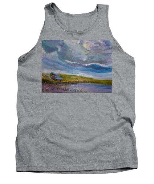 When Push Comes To Shove Tank Top by Helen Campbell
