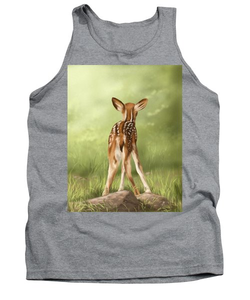 Tank Top featuring the painting Where Is My Mom? by Veronica Minozzi