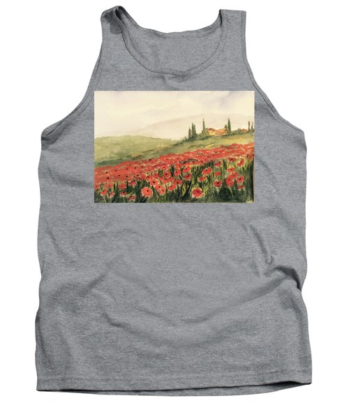 Where Poppies Grow Tank Top by Heidi Patricio-Nadon