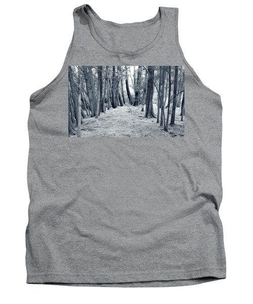Tank Top featuring the photograph Whispering Forest by Wayne Sherriff