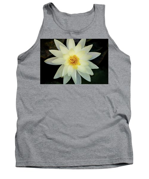 White And Yellow Water Lily Tank Top