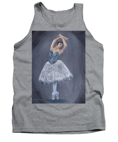 Tank Top featuring the painting White Ballerina by Jamie Frier