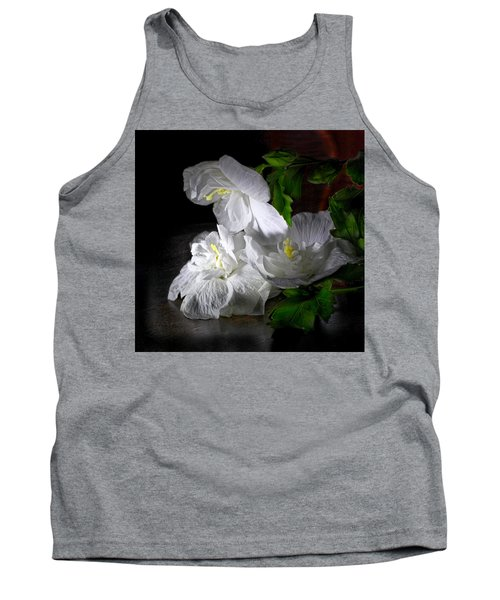 White Blossoms Tank Top