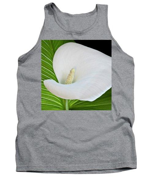 White Calla Tank Top