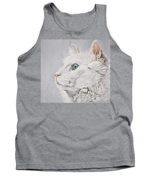 White Cat Tank Top