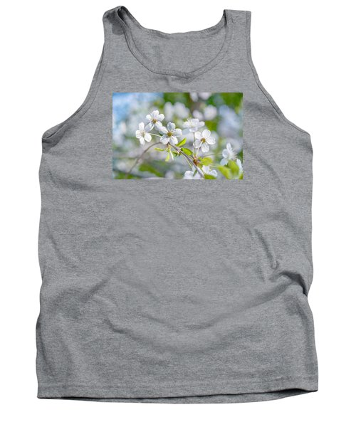 Tank Top featuring the photograph White Cherry Blossoms In Spring by Alexander Senin