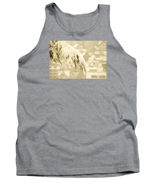 Tank Top featuring the photograph White Christmas - Winter In Switzerland by Susanne Van Hulst