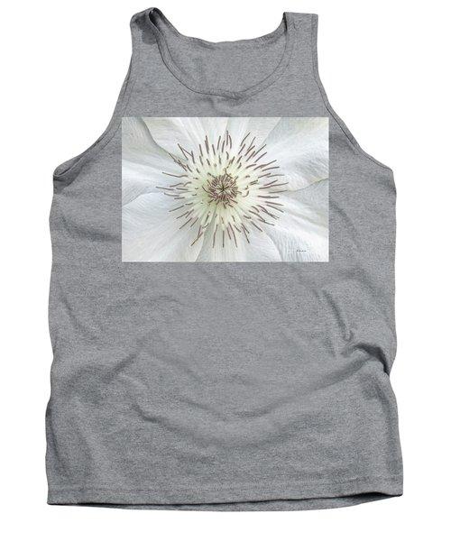 White Clematis Flower Garden 50121b Tank Top