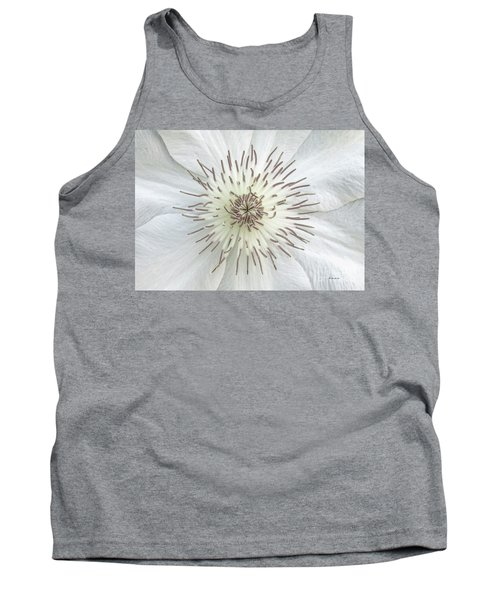 White Clematis Flower Garden 50121b Tank Top