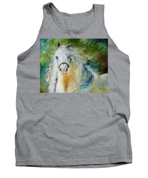 White Cloud The Andalusian Stallion Tank Top