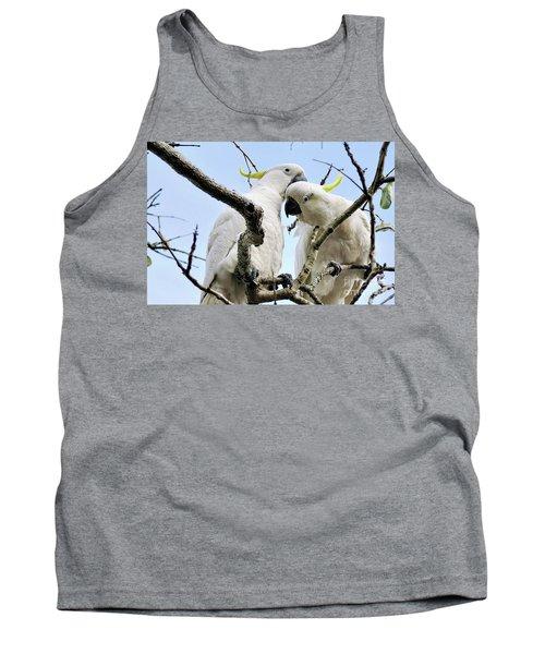 White Cockatoos Tank Top