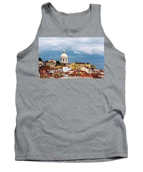 Tank Top featuring the photograph White Dome Against Blue Sky by Lorraine Devon Wilke
