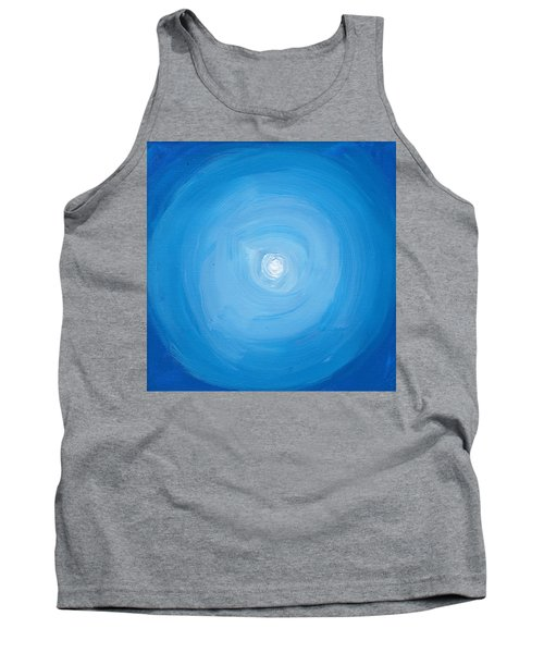 White Dot In Sea Of Blue Tank Top