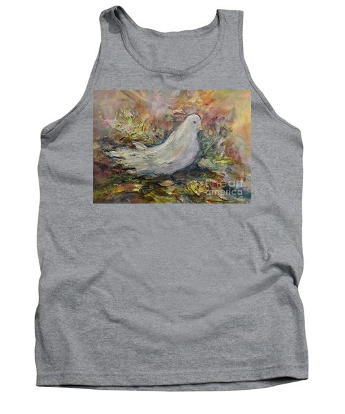 White Dove Tank Top by Ellen Anthony