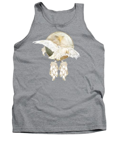 Tank Top featuring the mixed media White Eagle Dreams by Carol Cavalaris