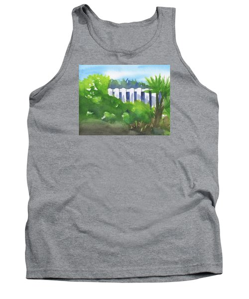 White Fence  Tank Top by Frank Bright
