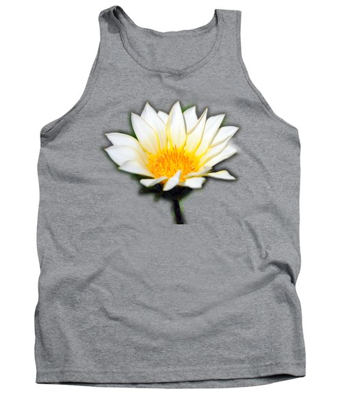 White Flower T-shirt Tank Top by Isam Awad