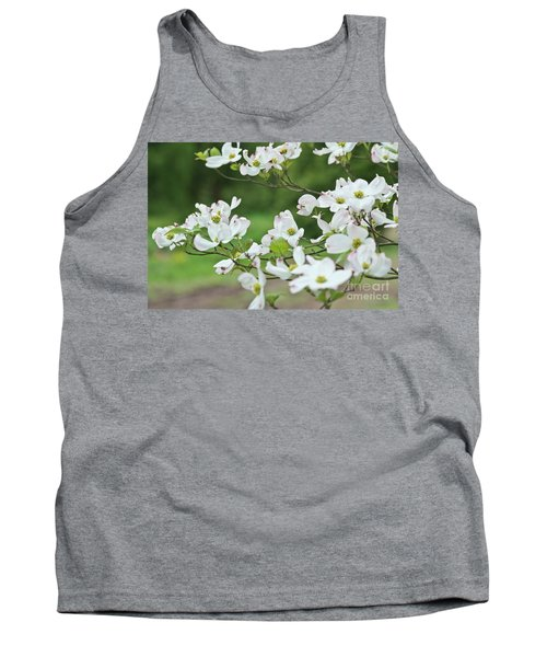 Tank Top featuring the photograph White Flowering Dogwood by Ann Murphy