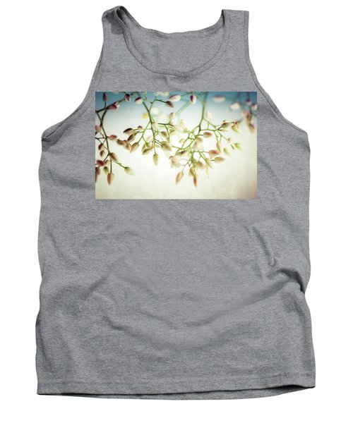 Tank Top featuring the photograph White Flowers by Bobby Villapando