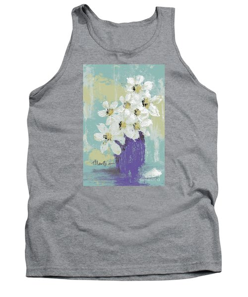 White Flowers Tank Top