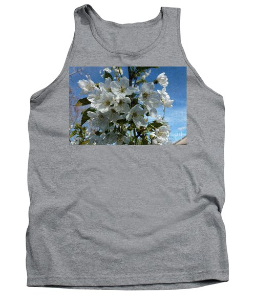 White Flowers - Variation 2 Tank Top
