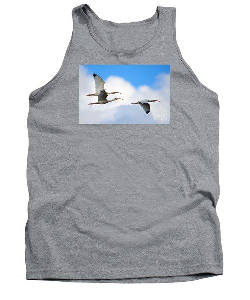 White Ibis Flock Tank Top