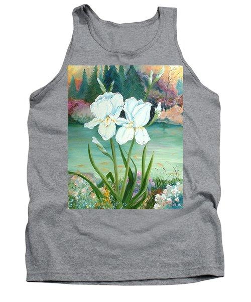 White Iris Love Tank Top