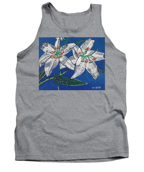 White Lilies Tank Top