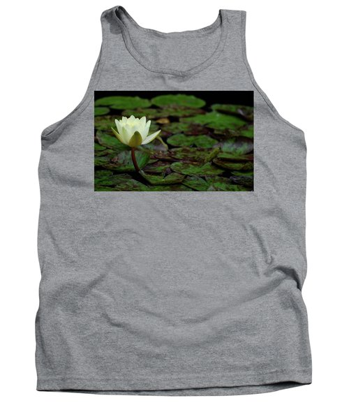 White Lily In The Pond Tank Top