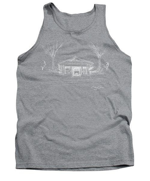 white lines on transparent background 10.28.Islands-8 Tank Top