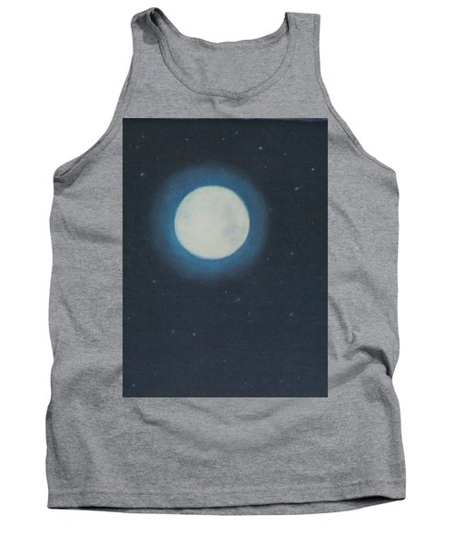 White Moon At Night Tank Top