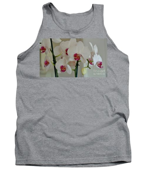 White Orchid Mothers Day Tank Top by Marsha Heiken