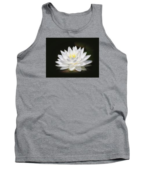 White Petals Glow - Water Lily Tank Top by MTBobbins Photography