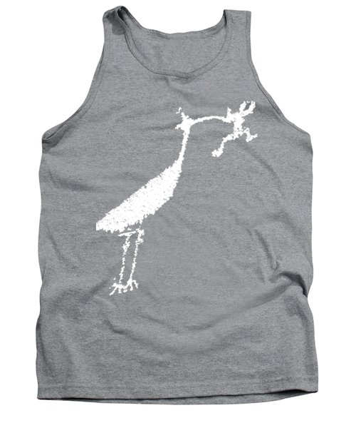 White Petroglyph Tank Top by Melany Sarafis