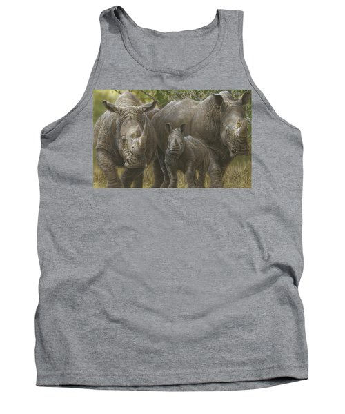 White Rhino Family - The Face That Only A Mother Could Love Tank Top