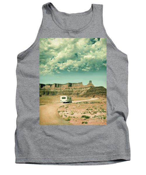 White Rv In Utah Tank Top by Jill Battaglia