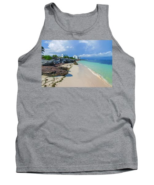 White Sandy Beach Of Cancun Tank Top