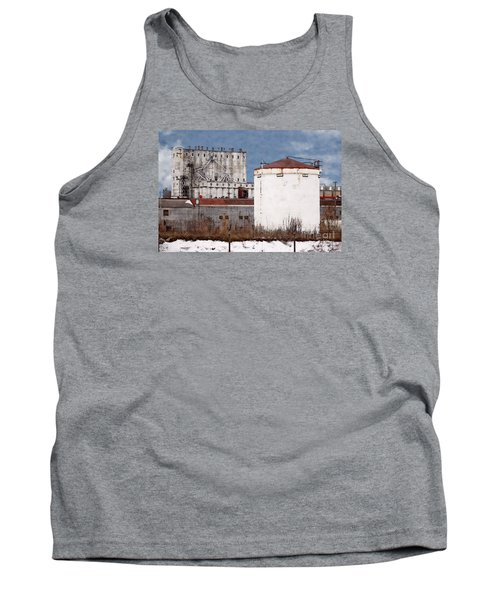 White Silo And Grain Elevator Tank Top by David Blank