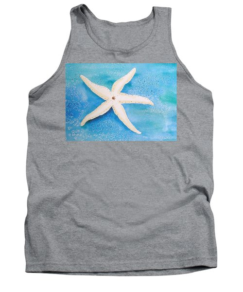 White Starfish Tank Top by Patricia Piffath