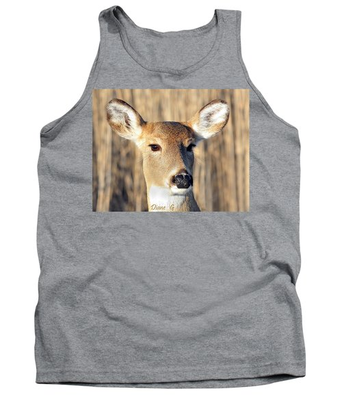 White-tailed Deer Tank Top by Diane Giurco