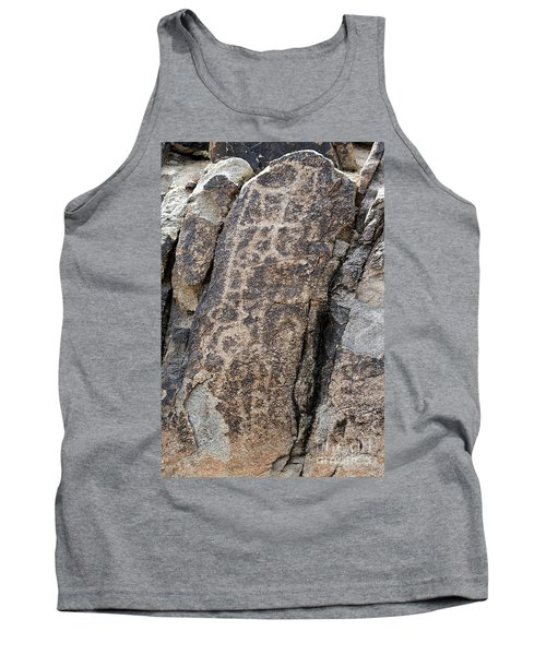 Tank Top featuring the photograph White Tank Petroglyphs #1 by Anne Rodkin