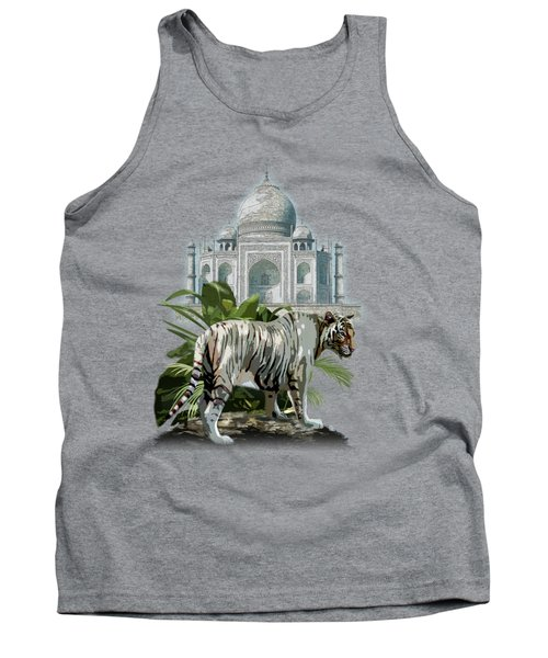 White Tiger And The Taj Mahal Image Of Beauty Tank Top
