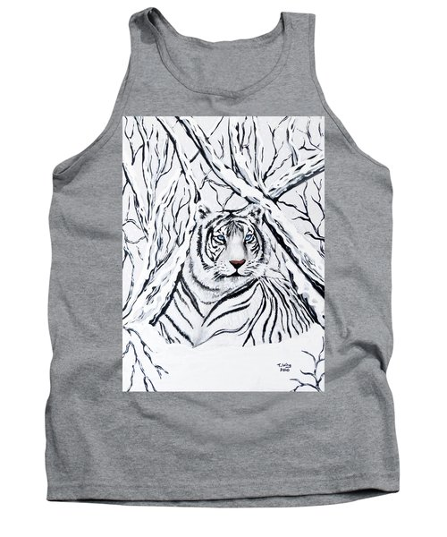 White Tiger Blending In Tank Top