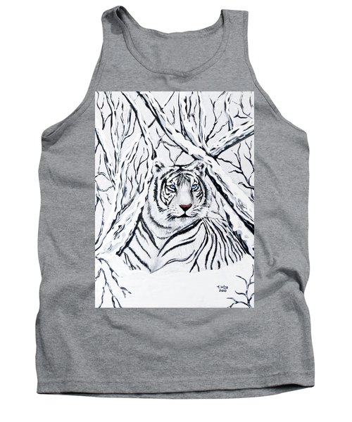 White Tiger Blending In Tank Top