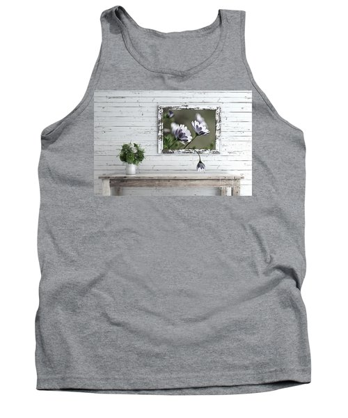 Tank Top featuring the photograph White Timber Cottage By Kaye Menner by Kaye Menner