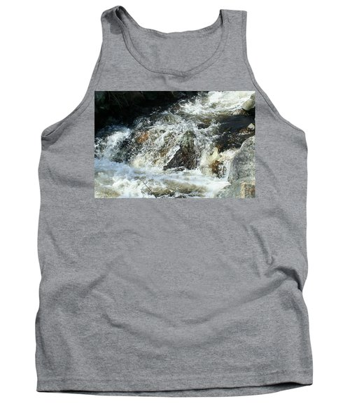 Tank Top featuring the digital art White Water by Barbara S Nickerson