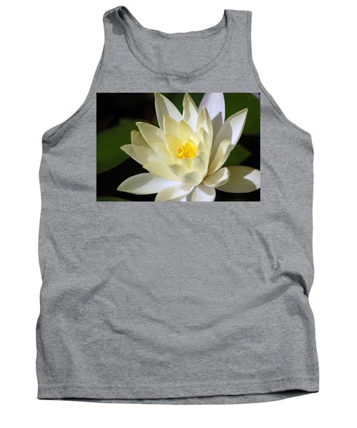 White Water Lily Tank Top by Donna Bentley